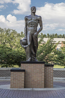 The Spartan Statue At Msu Poster by John McGraw