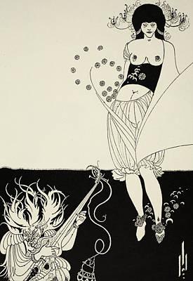 The Stomach Dance Poster by Aubrey Beardsley