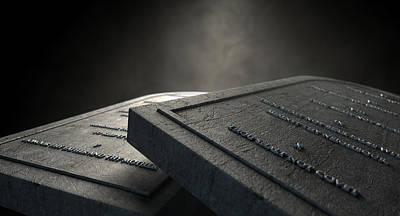 The Ten Commandments Poster by Allan Swart