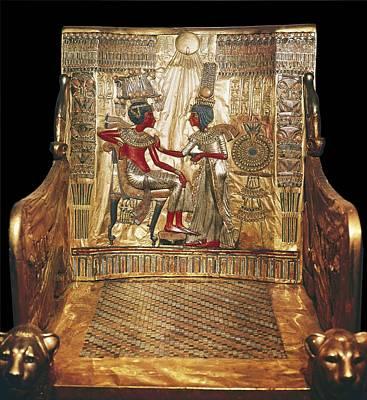 Throne Of Tutankhamun. Ca. 1340 Bc Poster by Everett