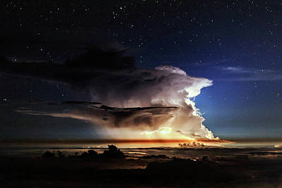 Thunderstorm From Haleakala Poster by Babak Tafreshi