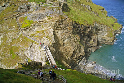 Tintagel Castle Poster by Rod Jones