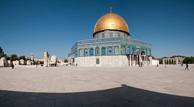 Town Square, Dome Of The Rock, Temple Poster by Panoramic Images