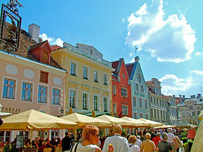 Town Square In Old Town Tallinn-estonia Poster by Ruth Hager