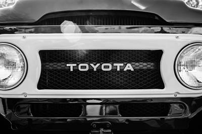 Toyota Land Cruiser Grille Emblem  Poster by Jill Reger