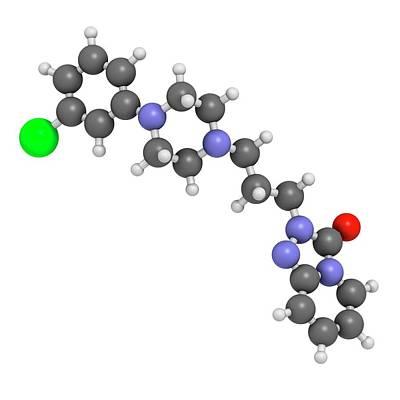 Trazodone Antidepressant Drug Molecule Poster by Molekuul