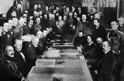 Treaty Of Brest-litovsk Poster by Granger