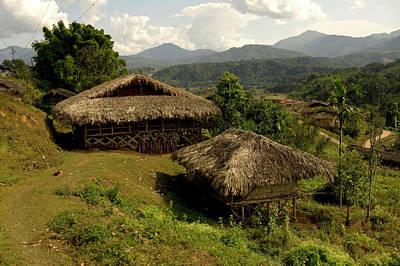 Tribal Homes In Arunachal Pradesh Poster by Jaina Mishra