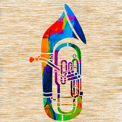 Tuba Poster by Marvin Blaine