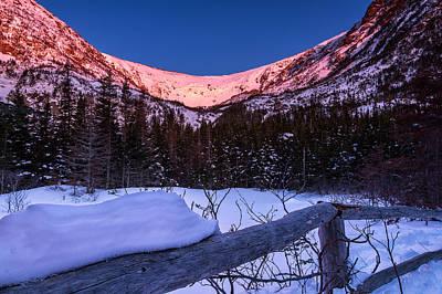 Tuckerman Ravine In The Winter Alpenglow Poster by Jeff Sinon