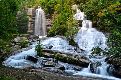 Twin Falls South Carolina Poster by Frozen in Time Fine Art Photography