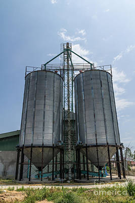 Two Metal Silo Poster by Tosporn Preede