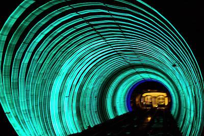 Underground Tunnel Lights Poster by Keren Su