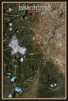 Upper Deschutes River Poster by Pete Chadwell