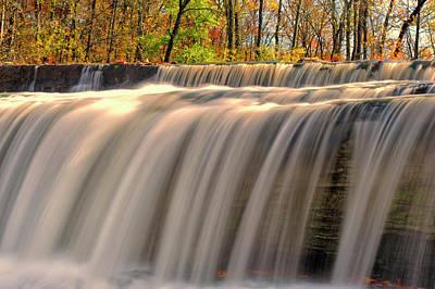 Usa, Indiana Cataract Falls State Poster by Rona Schwarz