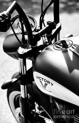 Victory Motorbike Poster by Tim Gainey