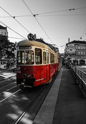 Vienna - Tramway Colourkey Poster by Jean Claude Castor