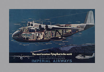 Vintage Airline Ad 1936 Poster by Andrew Fare