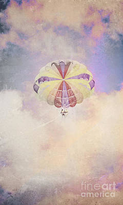 Vintage Parachute In Clouds Poster by Jorgo Photography - Wall Art Gallery