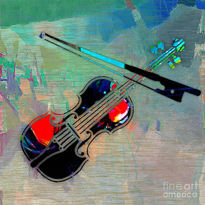 Violin Poster by Marvin Blaine
