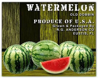 Watermelon Farm Poster by Marvin Blaine