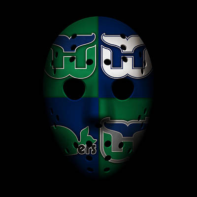 Whalers Goalie Mask Poster by Joe Hamilton