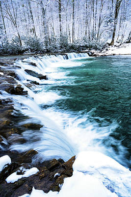 Whitaker Falls In Winter Poster by Thomas R Fletcher