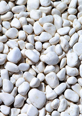 White Pebbles Poster by Eleni Mac Synodinos