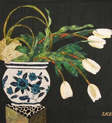 White Tulips Poster by Lynda K Boardman