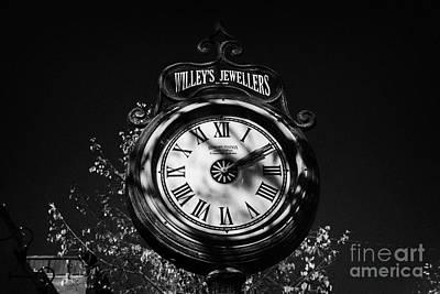 willeys jewellers clock made by memory station clock company on broadway saskatoon Saskatchewan Canada Poster by Joe Fox
