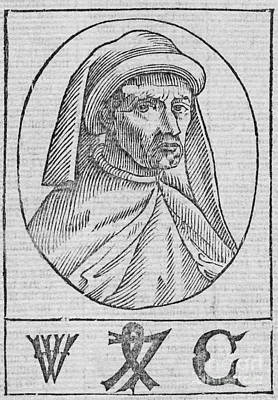 William Caxton, English Printer Poster by Middle Temple Library