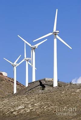 Wind Turbines, Lanzarote Poster by Mark Williamson