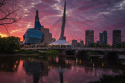 Winnipeg Sunset Poster by Bryan Scott