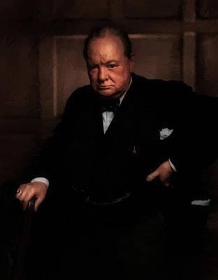 Winston Churchill Poster by Doc Braham