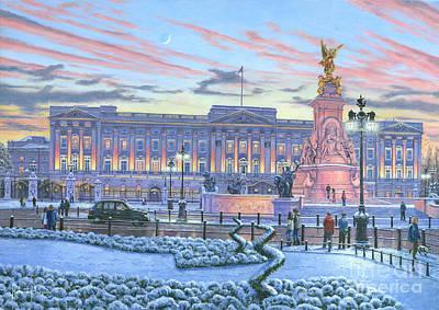 Winter Lights Buckingham Palace Poster by Richard Harpum