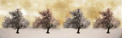 Winter Tree Poster by Emmanouil Klimis