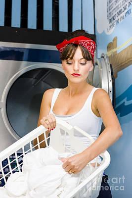 Woman Washing Clothes Poster by Jorgo Photography - Wall Art Gallery