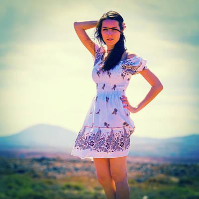 Woman Wearing Summer Dress Poster by Wladimir Bulgar