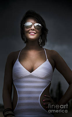 Woman Wearing Sunglasses Poster by Jorgo Photography - Wall Art Gallery