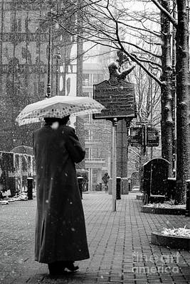 Woman With Umbrella 2 Poster by Robert Yaeger