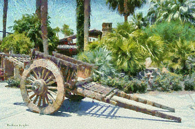 Wood Hand Cart Poster by Barbara Snyder