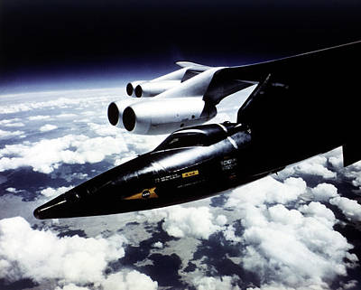 X-15 Aircraft On A Boeing B-52 Poster by Nasa
