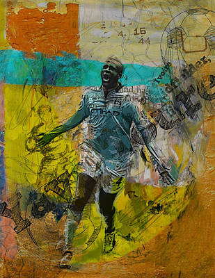 Yaya Toure Poster by Corporate Art Task Force