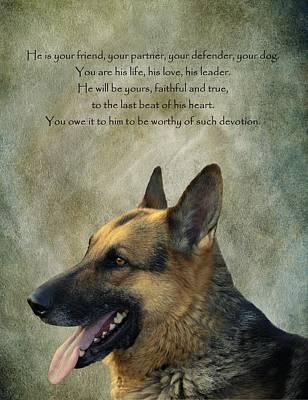 Your Friend Your Partner Your Defender Poster by David Dehner