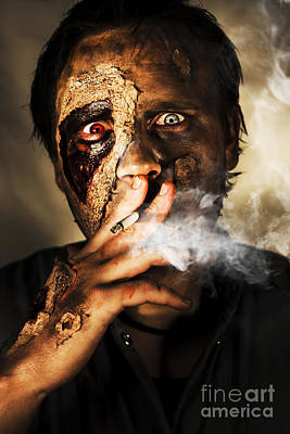 Zombie Killing Some Time Poster by Jorgo Photography - Wall Art Gallery