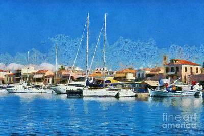 Aegina Port Poster by George Atsametakis