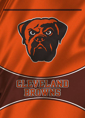 Cleveland Browns Uniform Poster by Joe Hamilton