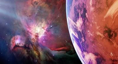 Earth-like Alien Planet Poster by Detlev Van Ravenswaay