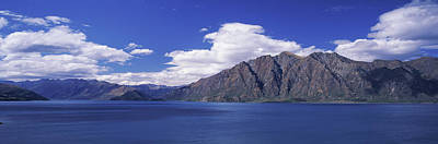 Lake With Mountain Range Poster by Panoramic Images