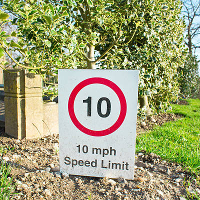 10 Miles Per Hour Poster by Tom Gowanlock